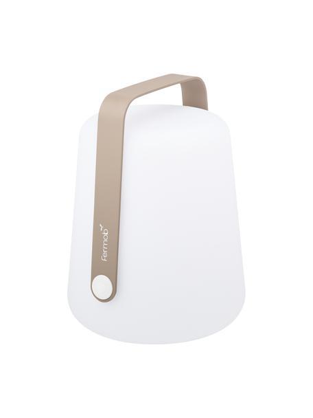 Mobile Dimmbare Aussentischlampe Balad, Lampenschirm: Polyethen, für den Aussen, Griff: Aluminium, lackiert, Muskatbraun, Ø 19 x H 25 cm