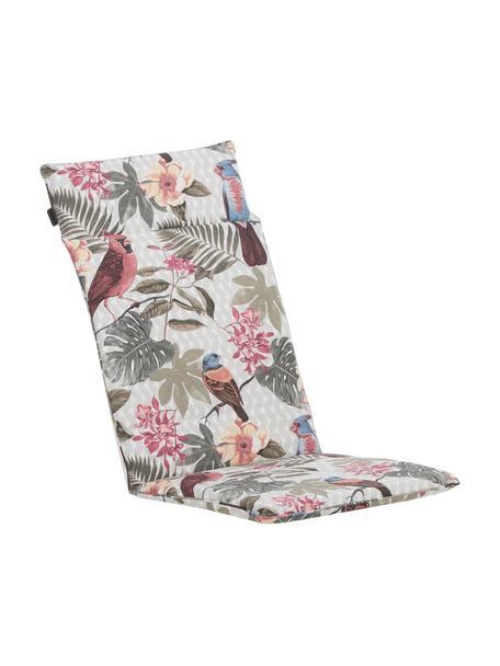 Hochlehner-Stuhlauflage Faya mit tropischem Print, Bezug: 50% Baumwolle, 45% Polyes, Mehrfarbig, 50 x 120 cm