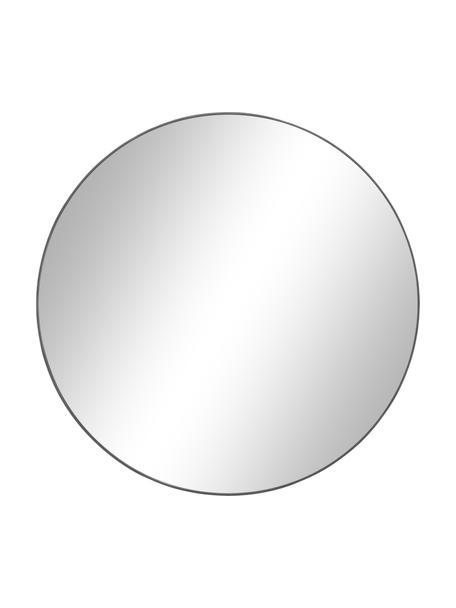 Specchio da parete rotondo con cornice grigio scuro Ada, Cornice: metallo zincato, Superficie dello specchio: lastra di vetro, Retro: pannello di fibra a media, Grigio scuro, Ø 80 cm