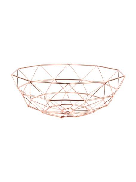 Kosz do przechowywania Diamond Cut, Metal, Odcienie miedzi, Ø 35 x W 13 cm