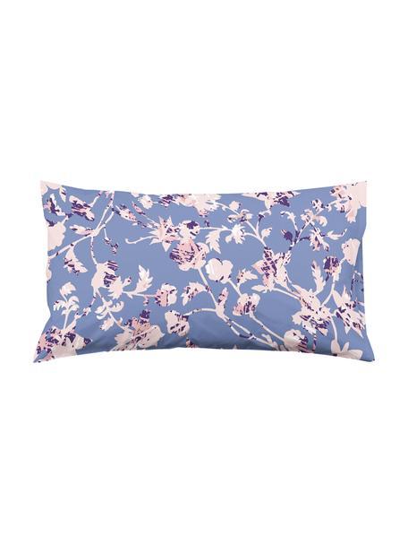 Fundas de almohada Lines, 2uds., Algodón, Azul oscuro, rosa, An 50 x L 80 cm