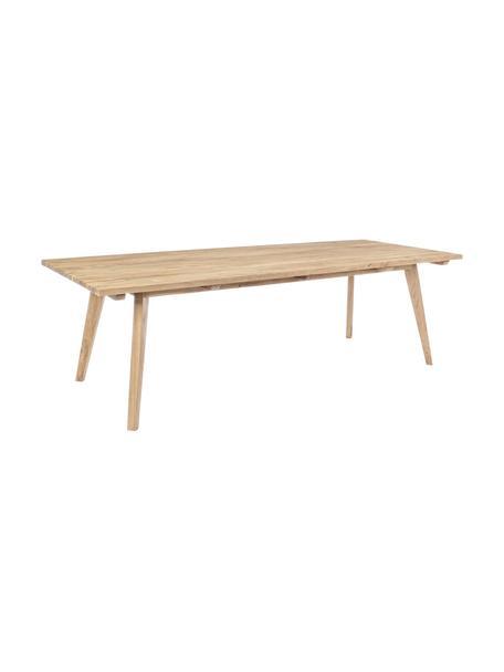Zewnętrzny stół Kendari, Surowe drewno tekowe z recyklingu Posiada certyfikat FSC, Drewno tekowe, S 260 x G 100 cm