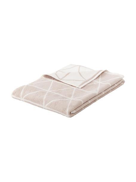 Toalla doble cara Elina, 100%algodón Gramaje medio 550g/m², Arena, blanco crema, Toalla tocador