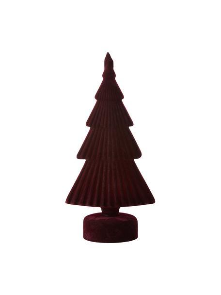 Deko-Objekt Velvie Christmas Tree, Bezug: Polyester, Dunkelrot, 13 x 27 cm