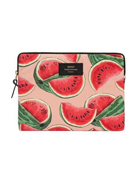 Cover per iPad Air Watermelon, Custodia: tela in fibra sintetica, Rosa, rosso, Larg. 24 x Alt. 17 cm