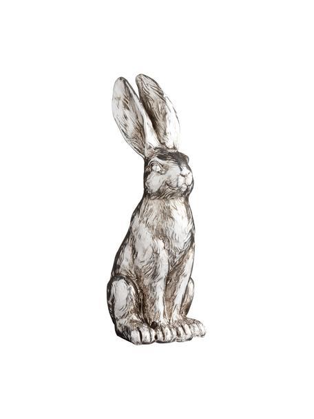 Deko-Objekt Bunny, Kunststoff, Silberfarben, 6 x 12 cm