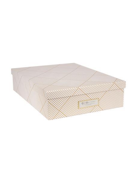 Aufbewahrungsbox Oskar, Goldfarben, Weiß, 26 x 9 cm