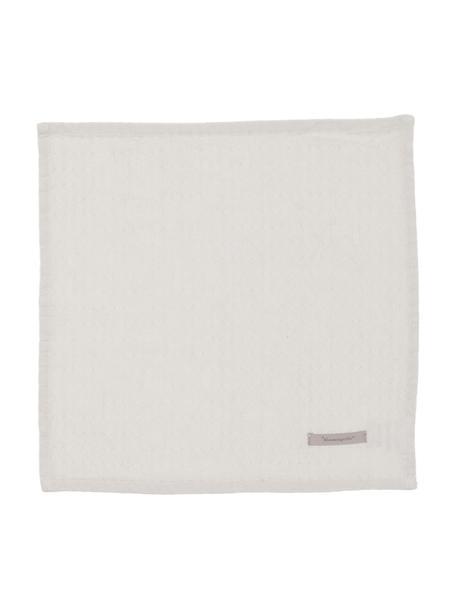 Baumwoll-Servietten Blanc mit feinem Struktur-Muster, 4 Stück, Baumwolle, Steingrau, 40 x 40 cm