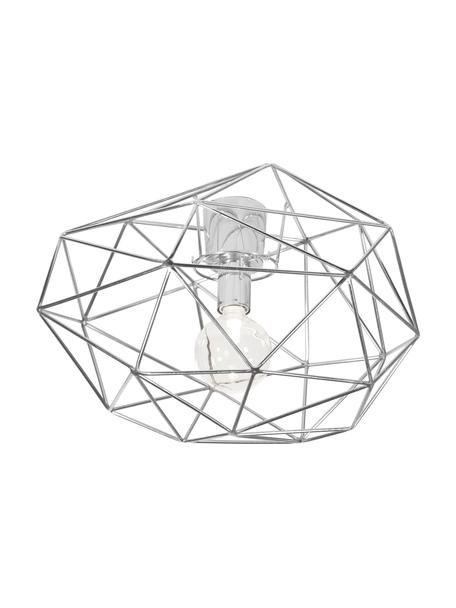 Plafón Diamond, Latón cromado, Cromo, Ø 50 x Al 32 cm
