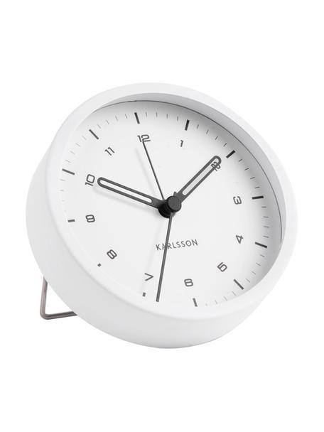 Wecker Tinge, Stahl, lackiert, Weiss, Ø 9 x T 3 cm