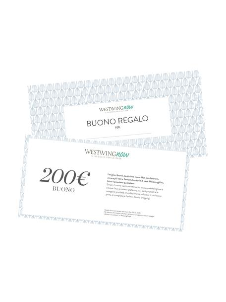 Buono regalo, Buono su carta fine, in una busta di alta qualità, Bianco, 200