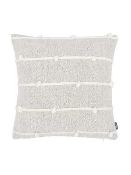 Cuscino con decori e imbottitura Bubble, Rivestimento: 100% acrilico, Grigio, bianco, Larg. 45 x Lung. 45 cm