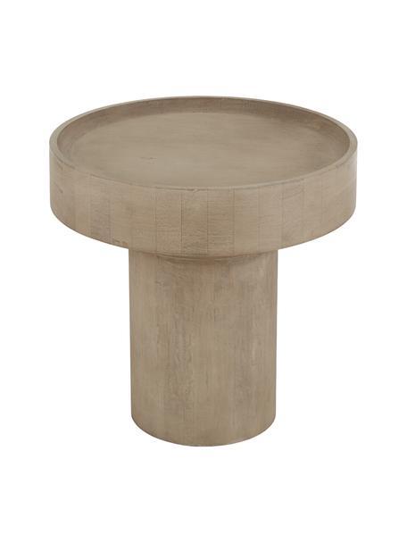 Beistelltisch Benno aus Mangoholz, Massives Mangoholz, lackiert, Beton, Mangoholz, grau gewaschen, Ø 50 x H 50 cm