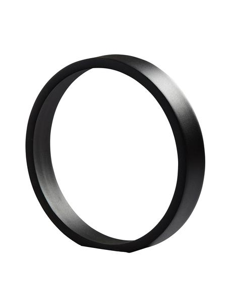 Oggetto decorativo The Ring, Metallo rivestito, Nero, Larg. 25 x Alt. 25 cm