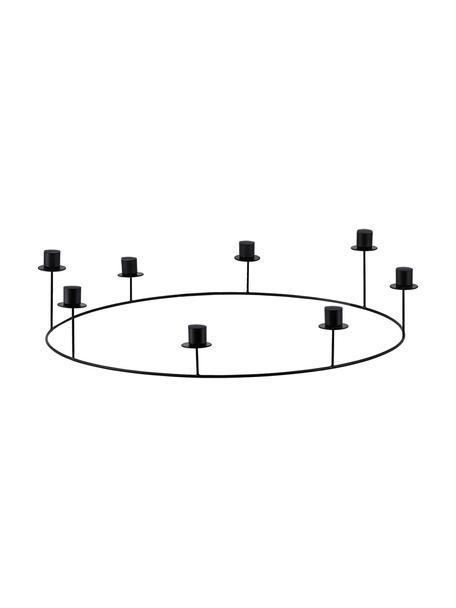 Candelabro Stilu, Metal, recubierto, Negro, Ø 50 x Al 12 cm