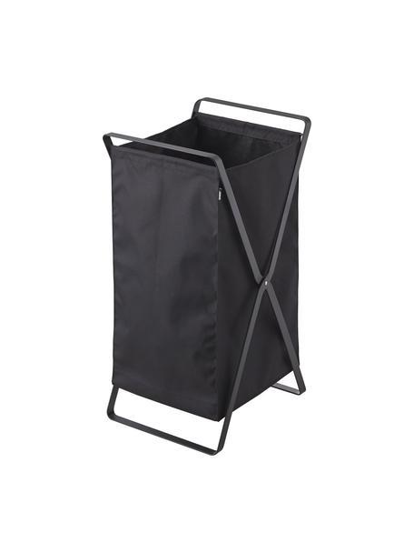 Wäschekorb Tower, Rahmen: Stahl, lackiert, Schwarz, 30 x 73 cm
