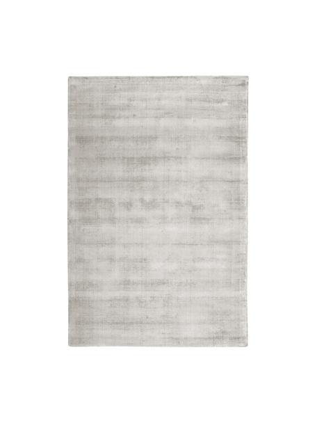 Tappeto in viscosa tessuto a mano Jane, Retro: 100% cotone, Grigio chiaro-beige, Larg. 120 x Lung. 180 cm (taglia S)
