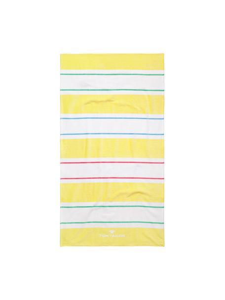 Ręcznik plażowy Frottier, Żółty, biały, niebieski, blady różowy, S 85 x D 160 cm