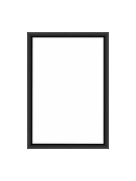 Bilderrahmen Accent, Rahmen: Aluminium, beschichtet, Front: Glas, Rückseite: Mitteldichte Holzfaserpla, Schwarz, 10 x 15 cm