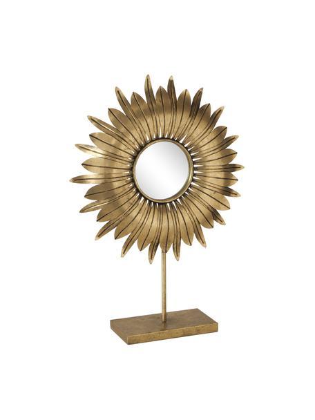 Dekoracja Oro, Metal, szkło lustrzane, Odcienie mosiądzu, S 43 x W 61 cm
