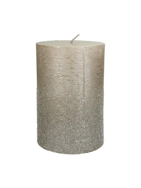 Stompkaars Glitters, Was, Goudkleurig, Ø 10 cm