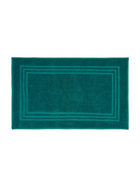 Tappeto bagno in tinta unita Gentle, 100% cotone, Verde smeraldo, Larg. 50 x Lung. 80 cm