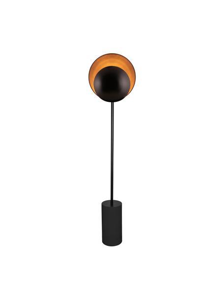 Design Stehlampe Orbit in Schwarz, Lampenschirm: Metall, beschichtet, Lampenfuß: Metall, beschichtet, Schwarz, 30 x 140 cm