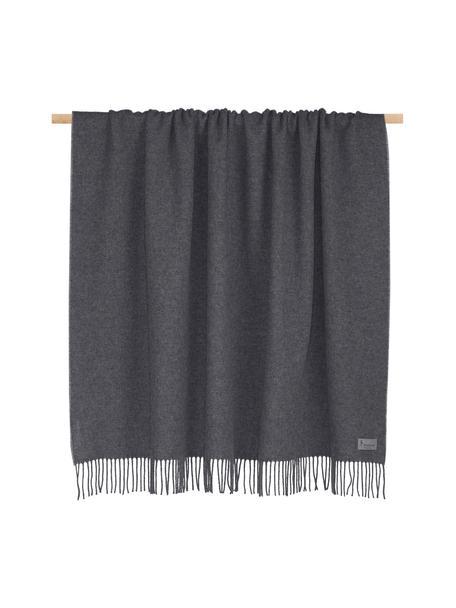 Plaid in cashmere Liliana, 80% lana, 20% cashmere, Grigio, Larg. 130 x Lung. 170 cm