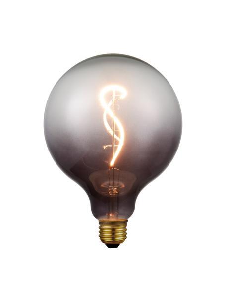 E27 XL-peertje, 4 watt, dimbaar, warmwit, 1 stuk, Lampenkap: glas, Fitting: gecoat metaal, Grijs, transparant, Ø 13 x H 17 cm