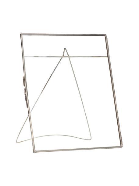 Bilderrahmen Xamen, Rahmen: Messing, beschichtet, Front: Glas, Silberfarben Transparent, 21 x 26 cm