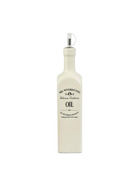 Distributore di olio Mrs Winterbottom, Terracotta, acciaio inossidabile, materiale sintetico, Crema, nero, Ø 7 x Alt. 33 cm