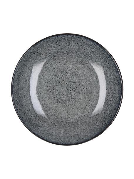 Piattino da dessert in terracotta Mirha 4 pz, Terracotta, Grigio scuro, Ø 22 cm