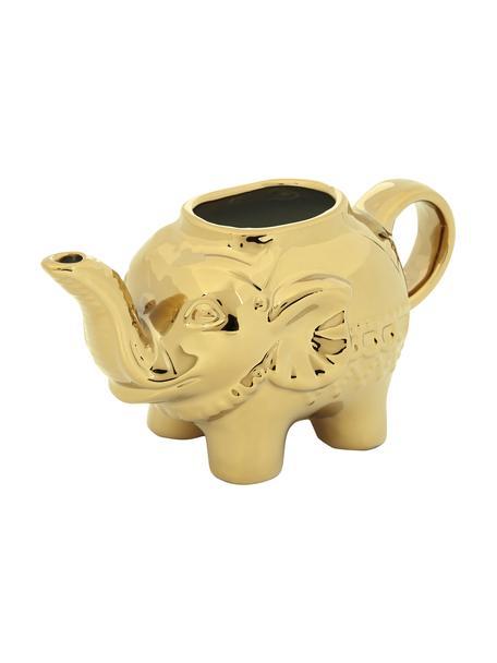Melkkannetje Elephant, Porselein, Goudkleurig, 15 x 8 cm