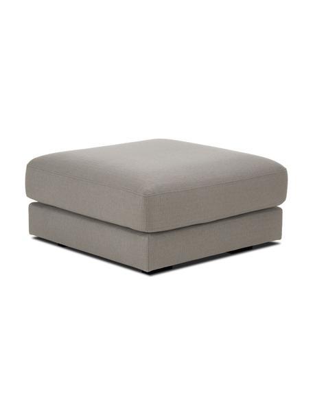Poggiapiedi da divano in tessuto grigio scuro Tribeca, Struttura: legno di pino massiccio, Piedini: legno di faggio massiccio, Tessuto grigio scuro, Larg. 80 x Alt. 40 cm
