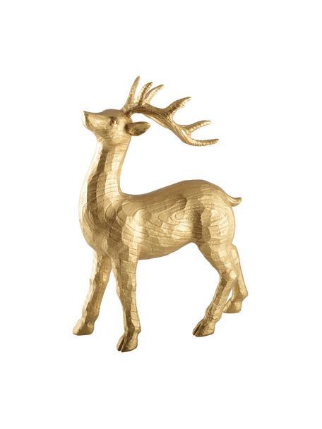 Deko-Objekt Deer, Polyresin, Goldfarben, 28 x 21 cm