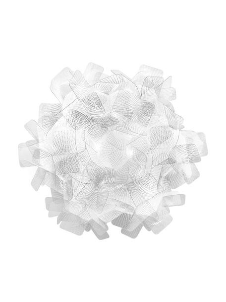 Handgefertigte Decken- und Wandleuchte Clizia Pixel, Lampenschirm: Technopolymer Opalflex®, Transparent, Ø 32 x T 15 cm