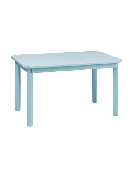 Stół dla dzieci Harlequin, Drewno brzozowe, lakierowana płyta pilśniowa średniej gęstości (MDF), Niebieski, S 79 x W 47 cm