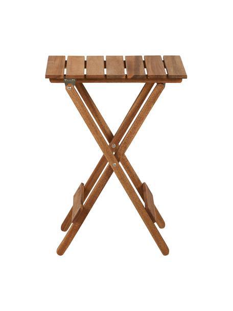 Tavolo pieghevole in legno Lodge, Legno di acacia, oliato ®FSC certificata, Legno d'acacia, Larg. 38 x Alt. 51 cm