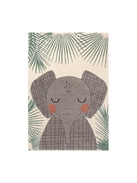Vloerkleed Junko, Polypropyleen, Beige, groen, grijs, 120 x 170 cm
