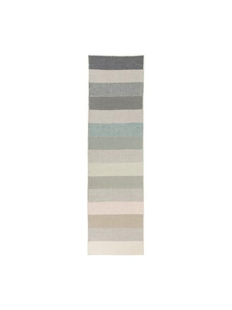 Gestreepte kelimloper Devise van wol, handgeweven, Multicolour, 80 x 280 cm