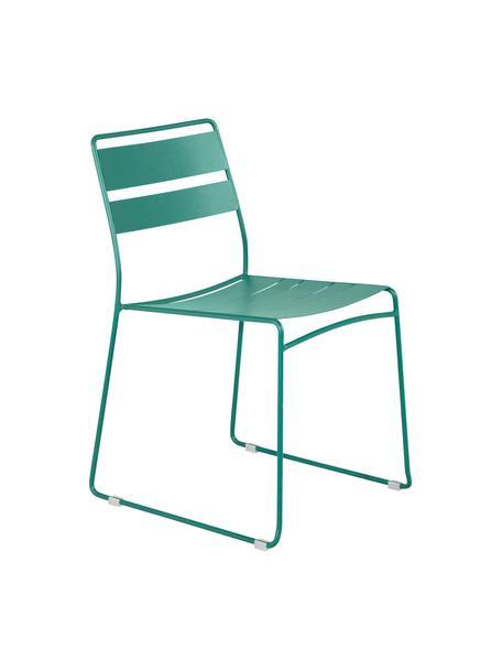 Krzesło ogrodowe z metalu Lina, Zielony, S 47 x G 55 cm