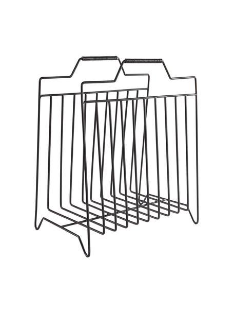 Zeitschriftenhalter Maud, Metall, lackiert, Schwarz, 43 x 36 cm