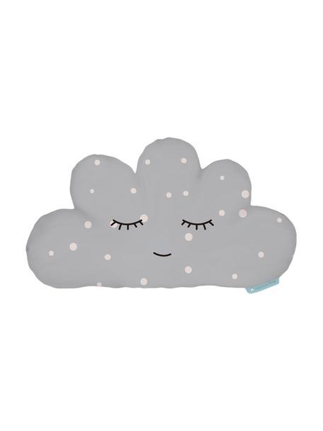 Cojín peluche Cloud, Poliéster (microfibra), Gris, blanco, negro, An 21 x L 42 cm
