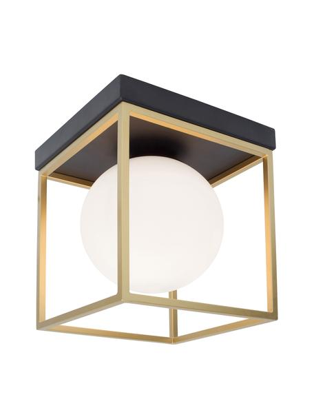 Deckenleuchte Juliet, Lampenschirm: Glas, Gestell: Metall, vermessingt, Weiß, Messing, 19 x 20 cm