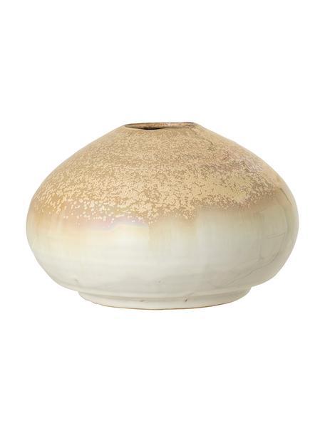Ręcznie wykonany wazon XS z kamionki Nina, Kamionka, Beżowy, Ø 12 x W 8 cm