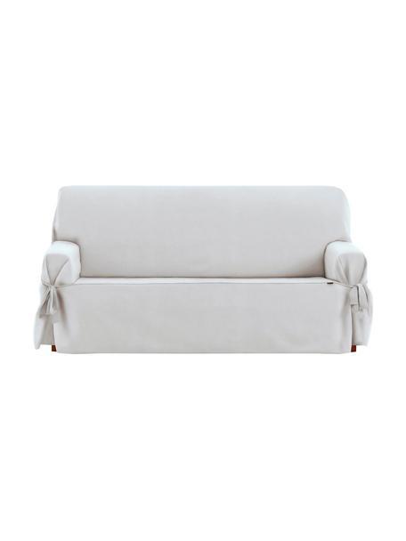 Funda de sofá Levante, 50%algodón, 50%poliéster, Blanco, 2 plazas (180 x 110cm)