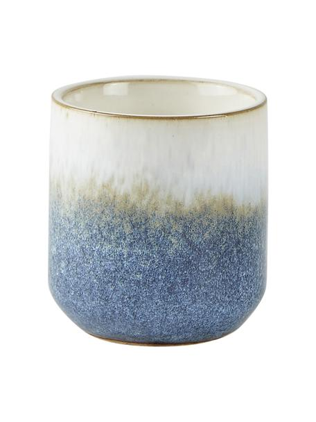 Duftkerze Sea Salt (Kokosnuss & Meersalz), Behälter: Keramik, Blau, Beige, Weiß, Ø 7 x H 8 cm