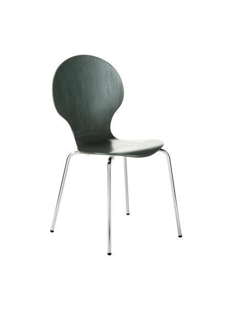 Krzesło Marcus, 4 szt., Nogi: stal chromowana, Szary, S 49 x W 87 cm