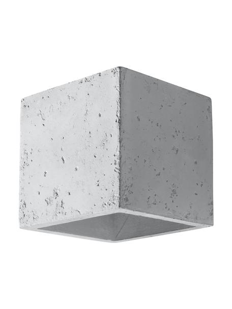 Wandleuchte Quad aus Beton, Beton, Gebrochenes Weiss, 10 x 12 cm