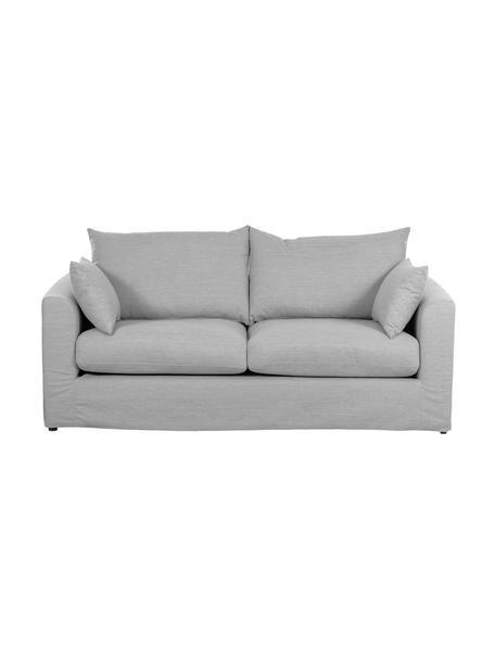 Sofa Zach (2-Sitzer) in Grau, Bezug: Polypropylen Der hochwert, Füße: Kunststoff, Webstoff Grau, B 191 x T 90 cm